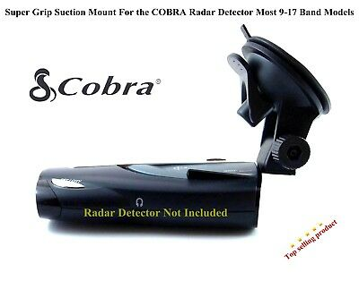 ONE Super Grip Suction Mount For the COBRA Radar Detector Most 9-17 Band Models