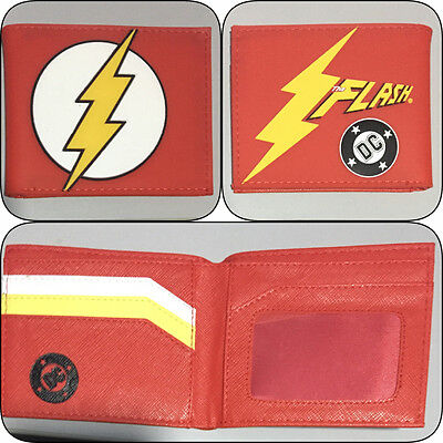 Bifold Wallet Flash Boys Girls Mens DC The Superhero Credit Card Slot Heroes