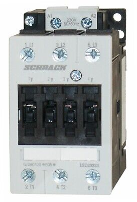 Contactor SCHRACK AC3: up to 22KW/50A/400V, Size S2 (100% Siemens compatible)