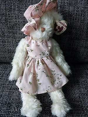 TY Teddy Bear Nola with Hat and Dress by Nola Heart  Style# 6014