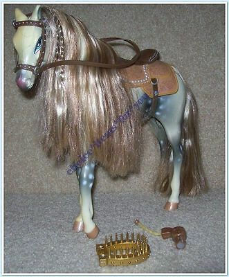 BRATZ MGA HORSE WILD WILD WEST WHITE and GREY WITH SADDLE : ORIGINAL ACCESSORIES