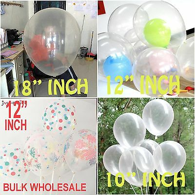 """Round Clear balloons Transparent 18""""inch Big Giant birthday Ballons Any Occasion"""