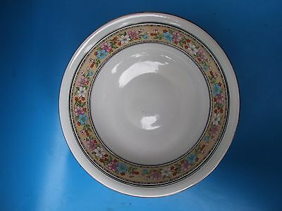 English Floral Washing Bowl Stoke on Trent Made in England C.1920'S