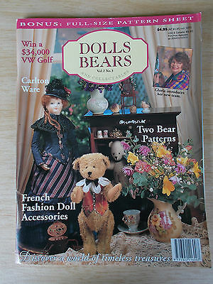 ADB&C Vol 2 #3~Doll & Bear Patterns~French Acc~Carlton Ware~Lucy~Gentleman Jim