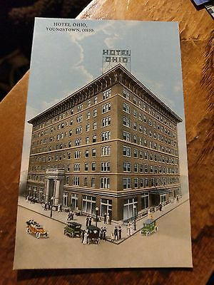 EARLY VERSION Hotel Ohio in Youngstown OH Postcard  SUPER CONDITION