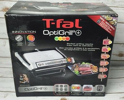 T-Fal OptiGrill Plus GC712D54 Electric Grill with Dishwasher Safe Plates