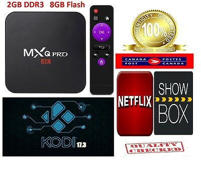 2GB AUTHENTIC MXQ Pro 4K Smart TV Box 64Bit Quad Core Android 6.0 KODI 17.3
