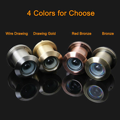 Home Security 5PCS Brass 35-50mm Door Scope Viewers Peep Hole Pipe Diameter 28mm
