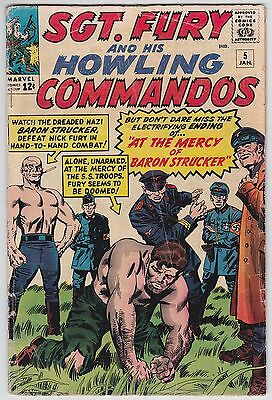 Sgt. Fury And His Howling Commandos #5 G 2.0 Baron Strucker Jack Kirby Art!