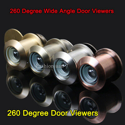 Home Security 5PCS 260 Degree 35-50mm Door Scope Brass Viewer Peep Hole Hardware