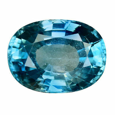 3.540Cts FORMIDABLE TOP STUNNING LUSTER BLUE NATURAL ZIRCON OVAL LOOSE GEMSTONES