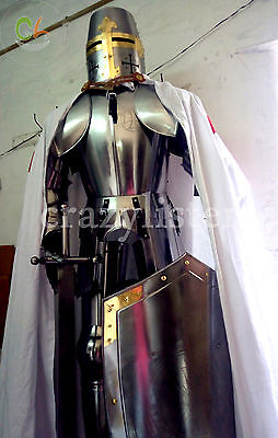 Medieval Wearable Knight Crusador Full Suit Of Armor Collectible Armor Costume