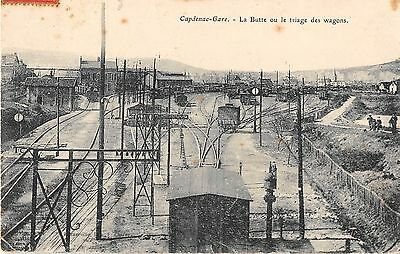 Cpa 12 Capdenac Gare La Butte Ou Le Triage Des Wagons (Train