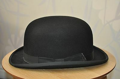 Vintage Christy's of London Black Bowler Hat - Size 7 1/2