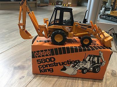 2 Case 580D Orange & Silver Jcb Excavator Backhoe X2