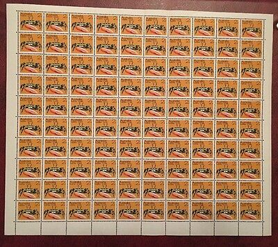 Australia 1973 Marine Life 2c Fiddler Crab Full Sheet of 100 Clean MNH