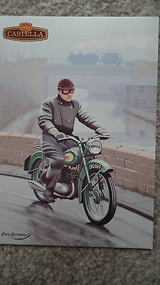 Eric Bottomley BSA Bantam  Motorcycle Postcard