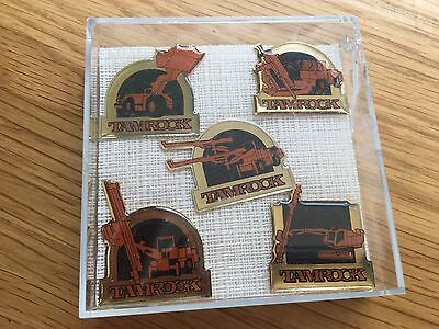 Tamrock Excavator Loader Dumper Full Set Badges