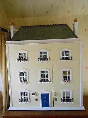 Very large gorgeous handmade 12th scale dolls house fully furnished
