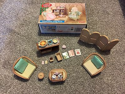 Sylvanian Families Conservatory Living Room Furniture Set Boxed