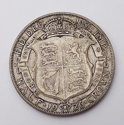 Dated : 1926 - Silver Coin - Half Crown - King George V - Great Britain UK Rare
