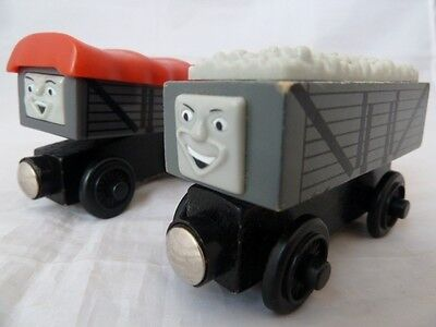 Giggling Troublesome Truck With Friend - Wooden Train Truck For Thomas The Tank