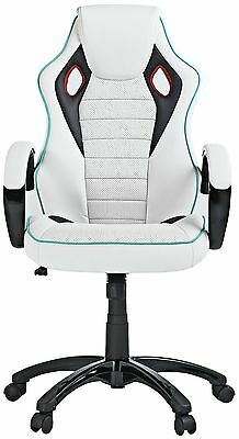 X-Rocker 2.0 Wireless  PU Gaming Chair  white With Sound.