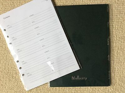 Mulberry PLANNER Address / Contacts Dividers and Paper - 32 sheets