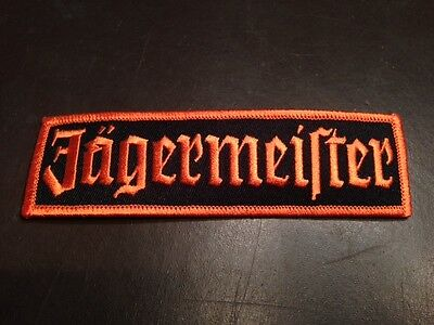 New Original Jagermeister Embroiled Patch Ships Free Sew On / Iron 5 Inches Wide