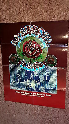 Grateful Dead Historic Withdrawn Psychedelic American Beauty Promo Poster 1970