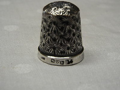 Antique Sterling Silver Thimble Size 14  Fully Hallmarked Chester 1912 C&S