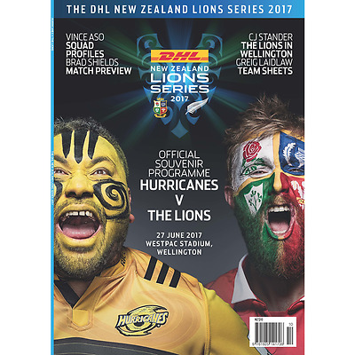 Hurricanes v British & Irish Lions - 27 June 2017 - Official Programme