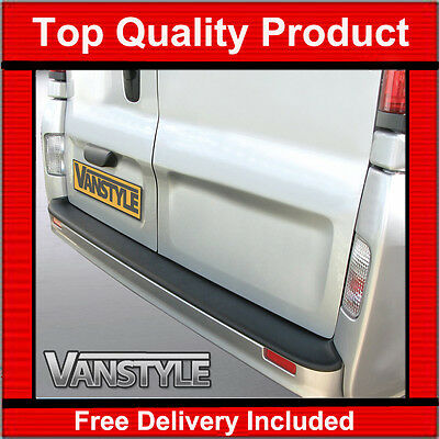 Renault Trafic 2000-2014 Rear Bumper Protector Tough Abs Black Stops Damage