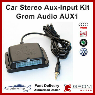 GROM Audio AUX1 Auxiliary Aux-Input kit for AUDI A3 A4 A6 A8 TT, SEAT SKODA VW