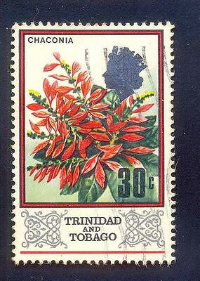 Trinidad Tobago 30C Used Stamps A18319 Chaconia Flowers