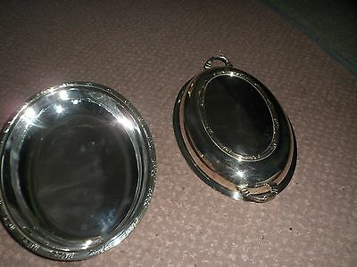 silver plate antique vintage serving dish with ornate lid high quality