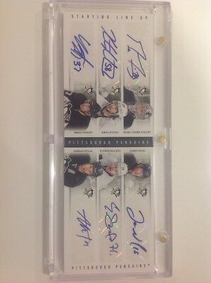 Panini contenders Pittsburgh Penguins, Evgeni Malkin 6 auto Stanley Cup Champs