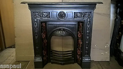 Refurbished Cast Iron  Tiled Combination Victorian Style  Fireplace