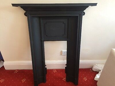 Antique Solid Cast Iron Fireplace 1930s Style