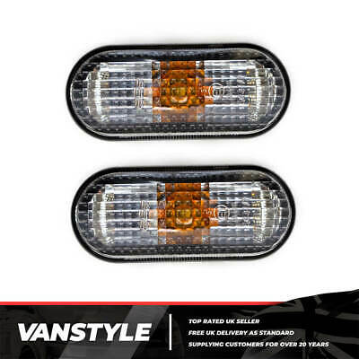 Vw Caddy & Maxi Oem Dark Smoked Side Repeaters Indicators Upgrade Trim (Pair)
