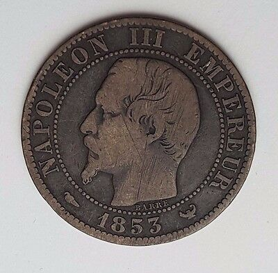 Dated : 1853 - Cinq Centimes - Napoleon III - French Empire Coin