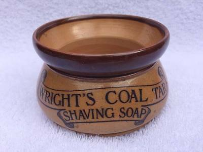 Doulton Lambeth  - Wright's Cold Tar Shaving Soap Double Sided Advertising Bowl