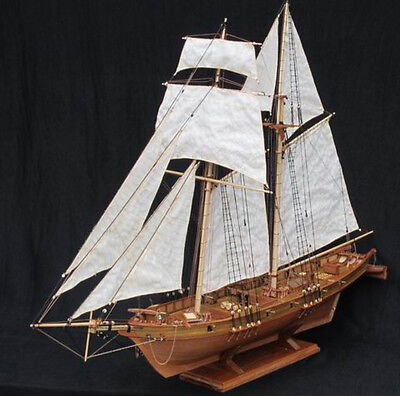 Scale 1/96 Classics Antique wooden sail boat model kits HARVEY 1847 wooden Ship