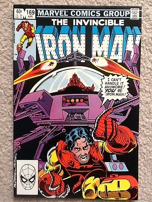 Invincible Iron Man #169 and 170 First app. Jim Rhodes as Iron Man! 1983 VF nice