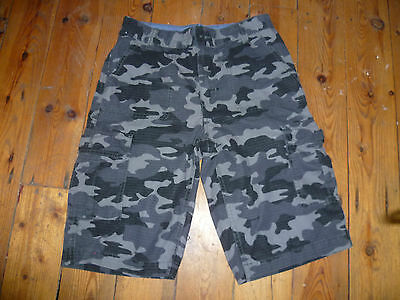 Levis Red Tab Age 14 Boys Grey Camouflage Cargo Combat Style Shorts Good Con