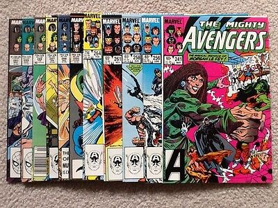 Avengers 1980's lot 241 256 258 261 264 280 286 to 289 291 11 issues Fine