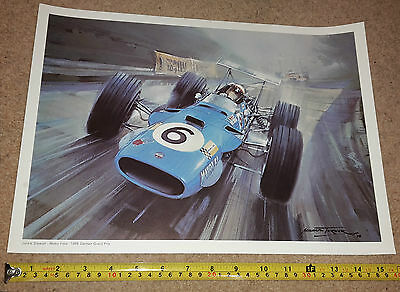 JACKIE STEWART / MATRA & HILL- 1968 GERMAN GRAND PRIX F1 PRINT BY Michael Turner