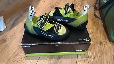 New/tested Edelrid Typhoons Sz 6.5 Climbing Shoes With Box