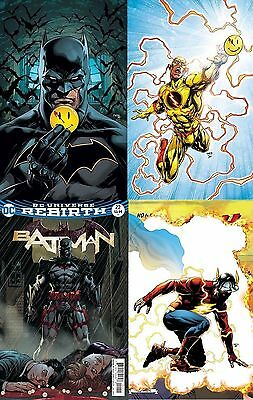 Batman Flash The Button Crossover Lenticular Variant Complete Set
