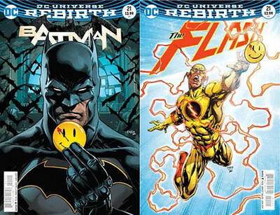 Batman 21 Flash 21 The Button Crossover Lenticular Variants